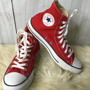 Converse Red Chuck Taylor high tops AIDS r…